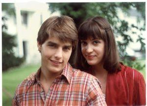 Sarah Partridge and Tom Cruise